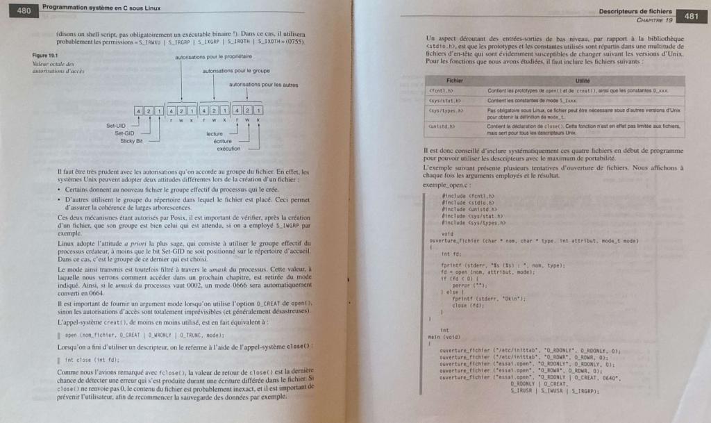 Code sur papier, programmation système en C sous Linux