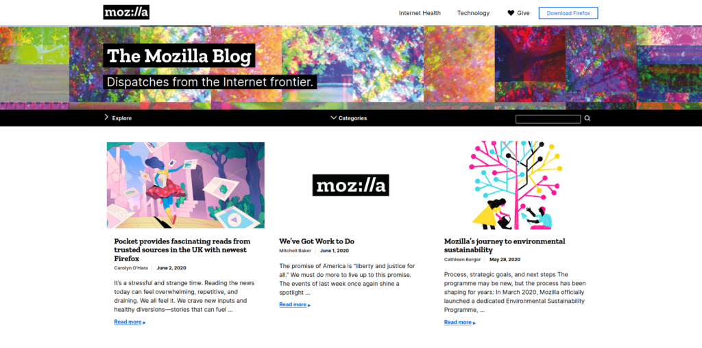 WordPress Blog Mozilla