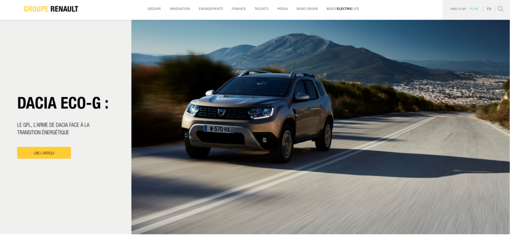 WordPress groupe Renault