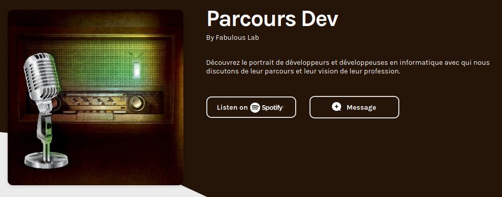 Podcast Parcours Dev