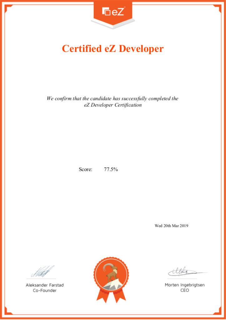 Certification développeur