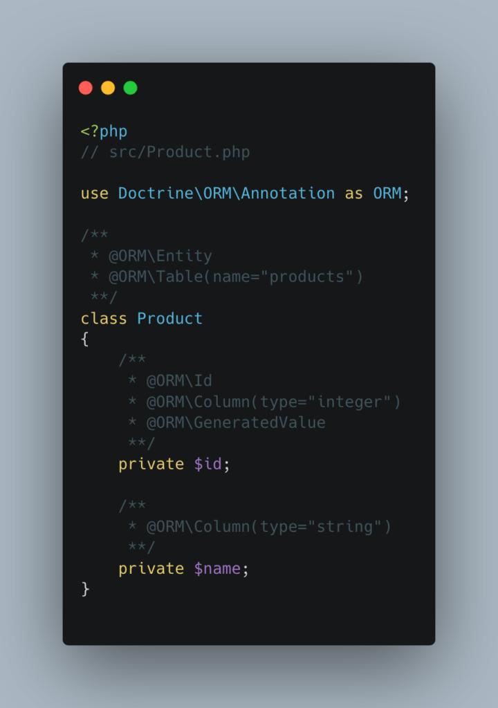 Modéliser objet SQL