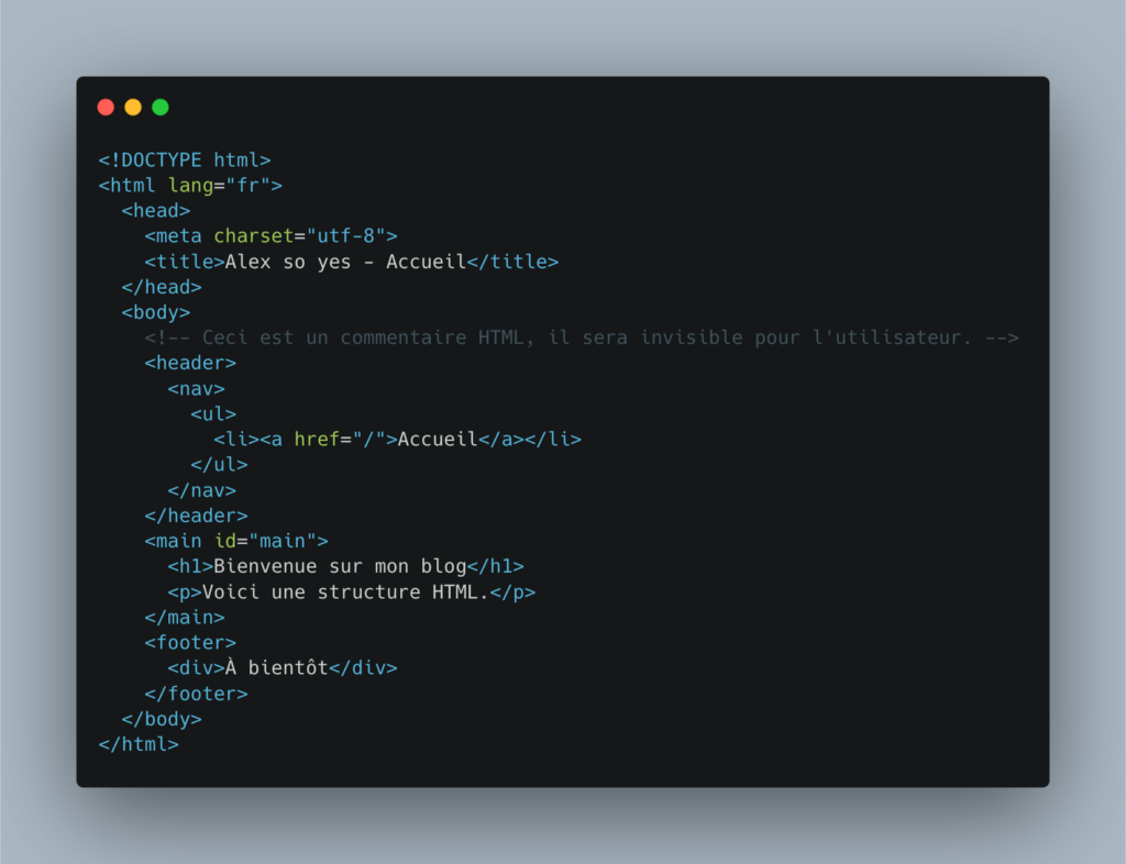 Structure HTML