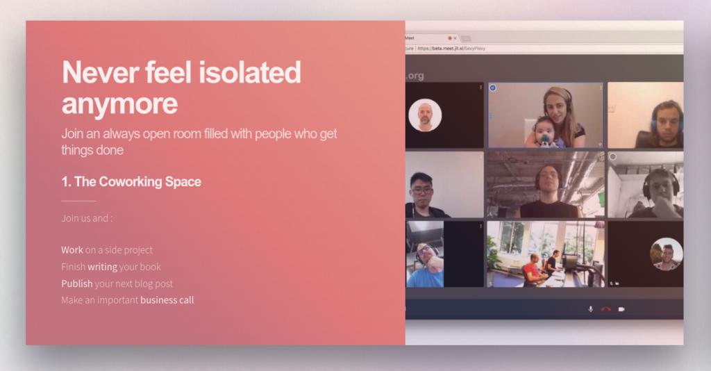 Coworking virtuel pour les développeurs remotes