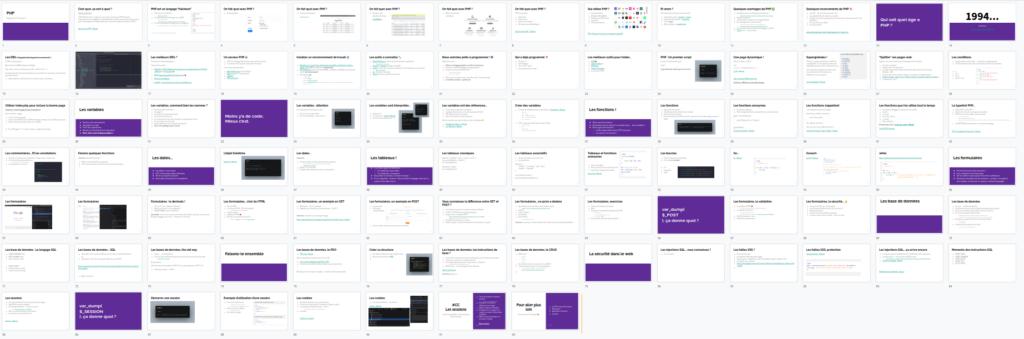 Formateur développeur PHP présentation cours
