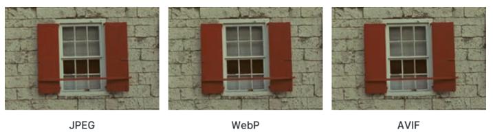 Comparaison format image performance web