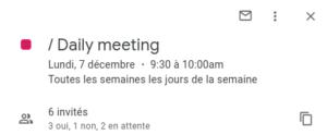 Daily meeting pour les développeurs en remote