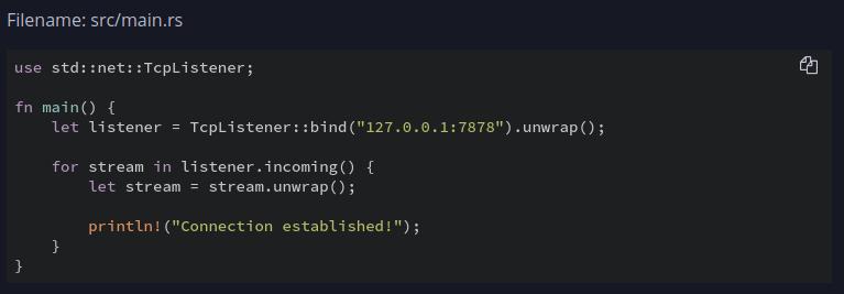 Exemple de code Rust