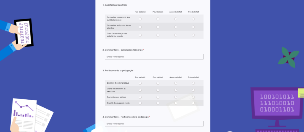Questionnaire satisfaction PHP MySQL