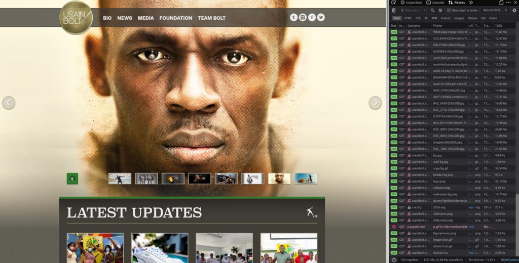 Site internet Usain Bolt