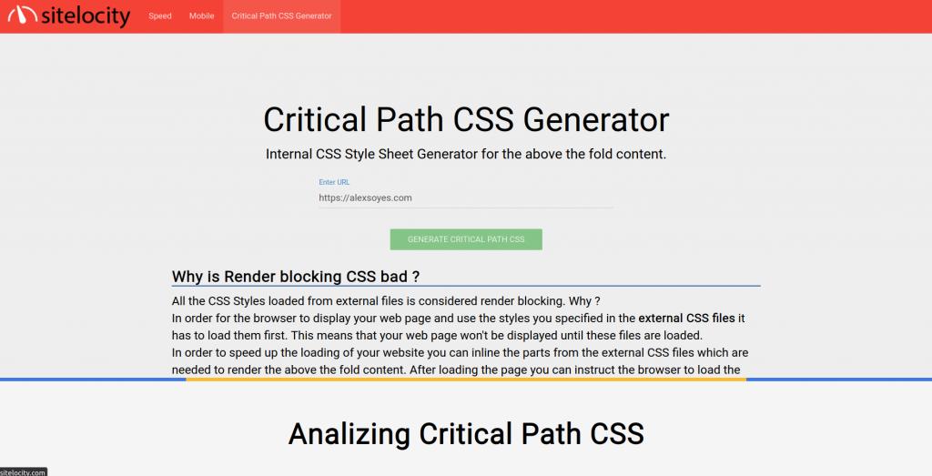 Générer un critical path en ligne