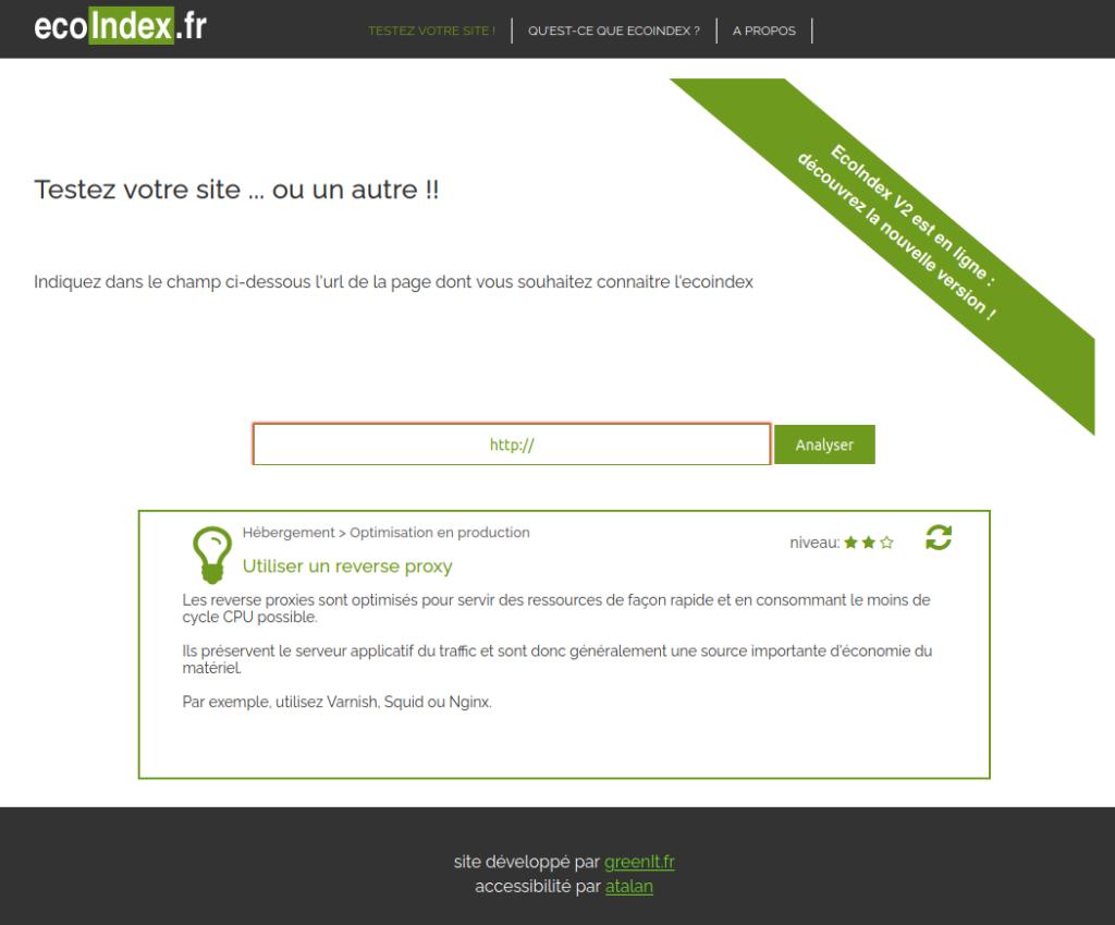 Test d'éco-conception web
