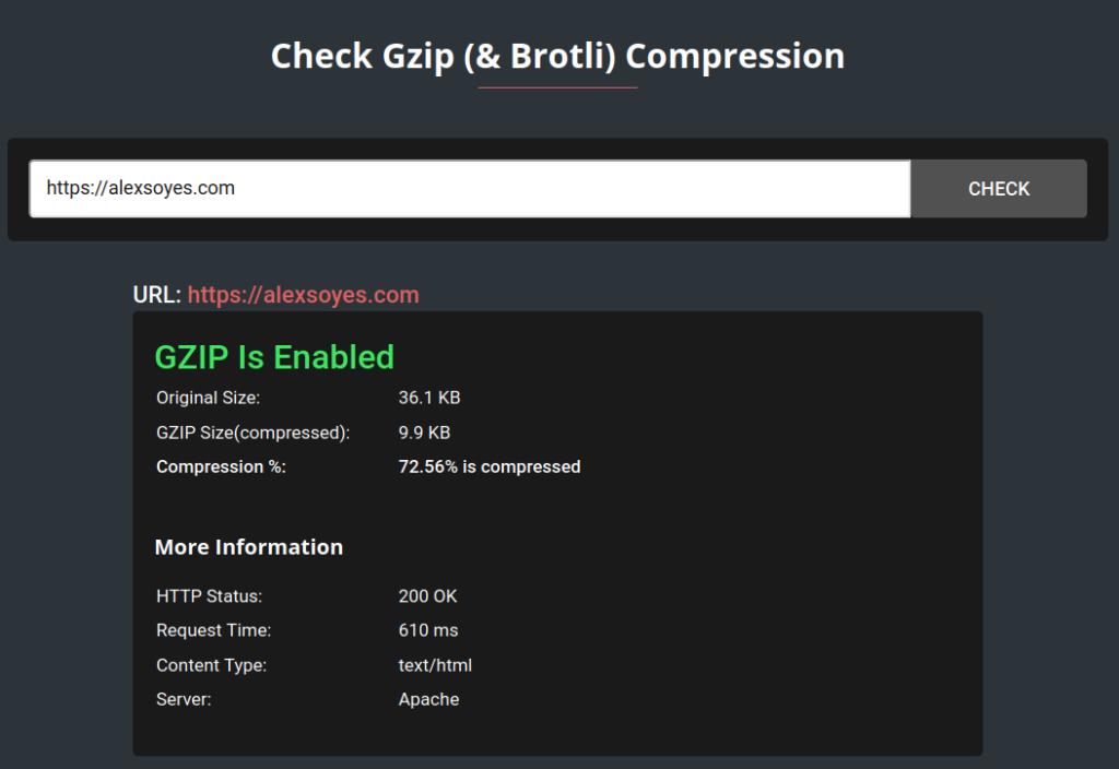gzip compression d'un site internet