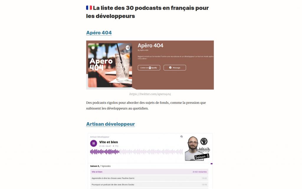 Veille technologique avec des podcasts