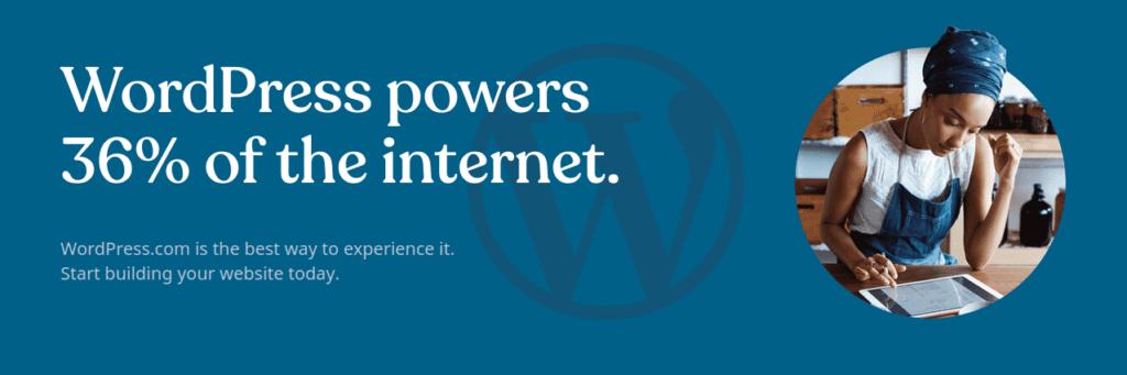 36% des sites web sont faits avec WordPress