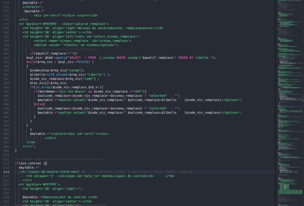 TMA sur du code legacy