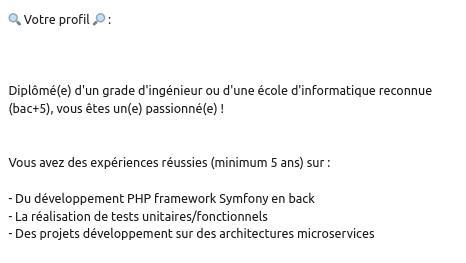 Recherche Bac+5 développeur