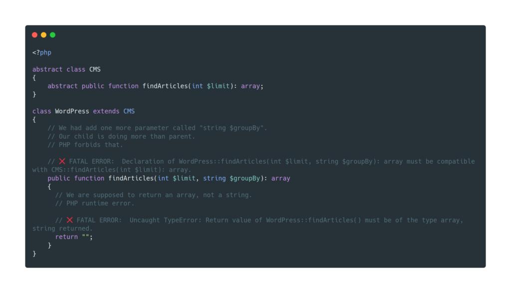 SOLID : Principe de substitution de Liskov en PHP