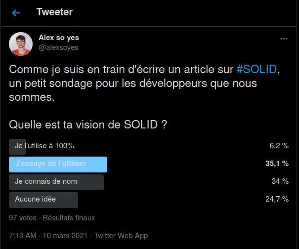 SOLID et son utilisation chez les développeurs