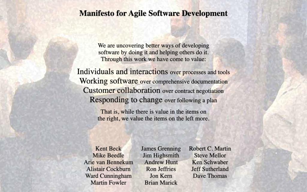 Le manifeste agile : Agile Manifesto