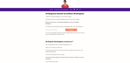 Blog de développeur, ancien design