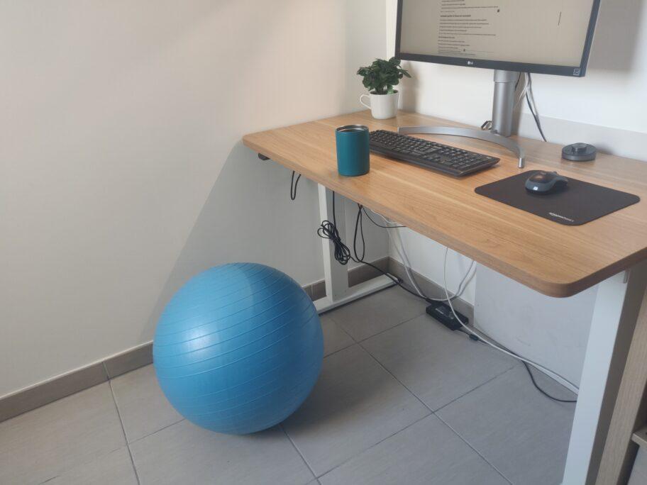 Environnement de travail avec Swiss Ball